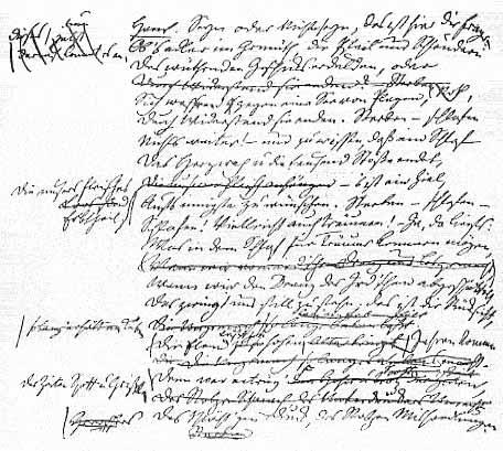 Monolog des Hamlet, Übersetzung von A.W.Schlegel, Faksimile von 1825.